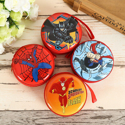 Kids Child Boys Cartoon Superhero Mini Coin Purse Wallet Headset Box Cute Bags