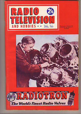 Vintage Radio Television And Hobbies Magazines 12 Issues 1959 can post