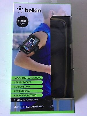 Belkin Slim-Fit Plus Armband for iPhone 6 / 6s Black w/ Gold