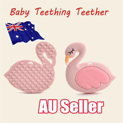 Silicone Flamingo Baby Teething Candy Wrapper Sound Teether Tooth oral traine NW