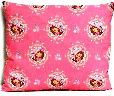 Strawberry Shortcake Toddler Pillow on Pink 100%Cotton ST17-7 New Handmade
