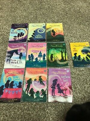 Lot of 10 (1-10) Disney THE NEVER GIRLS Series Matched Set Chapter Books