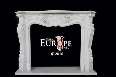 Hand Carved Marble French Style Estate Fireplace Mantel - Md52