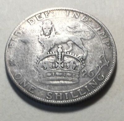 Great Britain (UK) 1926 One Shilling Silver Coin - King George V