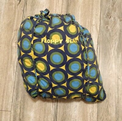 Baby FLOPPY SEAT Shopping Cart/High Chair Cover - Blue Green Geo Dots - EUC