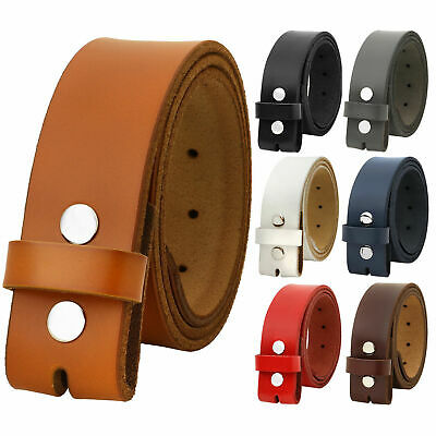 Falari Replacement Genuine Leather Belt Strap Without Buckle Snap on Strap 1.5""