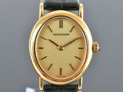 Authentic Jaeger LeCoultre Mechanical Hand-winding K18 750 Gold Ladies' Watch