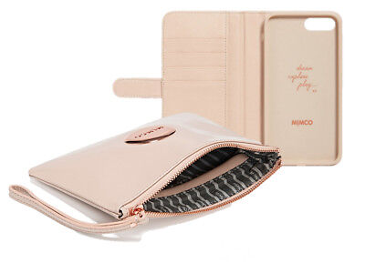 Mimco pancake medium leather pouch and iPhone 7/8 PLUS Flip Cover Package