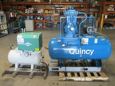 Quincy Model F 340 Air Compressor 7 1/2 H.p. With Dryer! Nice!
