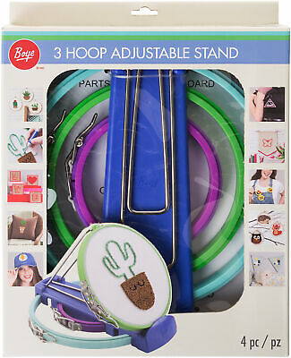Boye Plastic Embroidery Hoops & Stand-Set Of 3 With Springform Closure