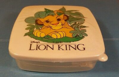 Disney The Lion King Simba Snack Sandwich Lunch Box Container Holder