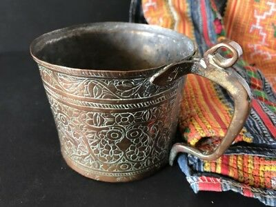 Old Handmade Turkish Copper Cup …beautiful collection / display piece