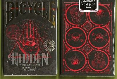 1 DECK Bicycle Hidden playing cards FREE USA SHIPPING