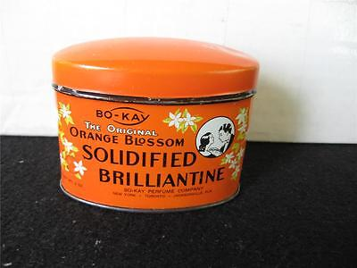 Vintage Bo-Kay Orange Blossom Hair Dressing Tin Solidified Brilliantine-Graphics