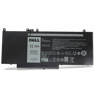 New Original 51WH OEM G5M10 Battery For Dell Latitude E5250 E5450 E5550 0K9GVN