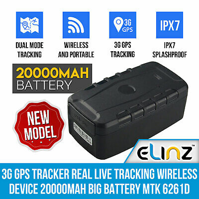 3G GPS Tracker Real Live Tracking Wireless 20000mAh Big Battery Magnet Elinz