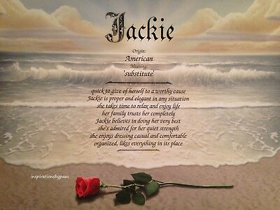 Personalized First Name Meaning Art prints-Any Name-Red Rose on Beach Art-8x10