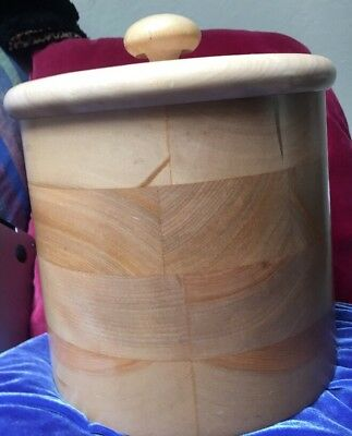 Hand Turned Wood Ice Bucket Vermont Woodbury's of Shelburne made for Yosh Uchida