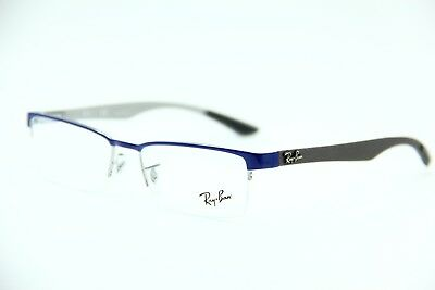 327037f481 New Ray-Ban Rb 8412 2891 Blue Eyeglasses Authentic Frame Rx Rb8412 52-17