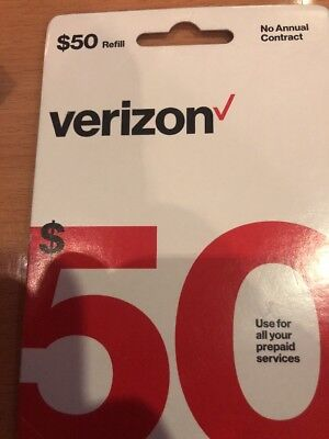 Verizon Wireless $50 Refill Card Prepaid Service (Fast Email Delivery )Guarantee