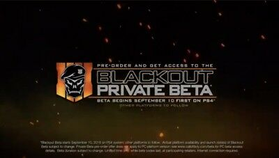 Black ops 4 BETA Key-PS4/XBOX ONE/PC Fast Delivery!! Blackout September !