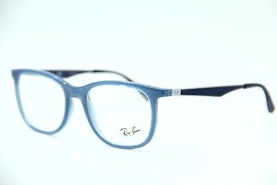 48075b3a5ba NEW AUTHENTIC RAY Ban RB 7078 8019 Transparent Light Blue Eyeglasses ...