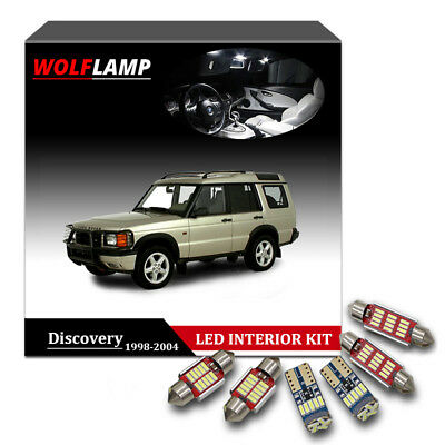13Pcs White LED Interior Car Light For 1998-2004 Land Rover Discovery Canbus Kit