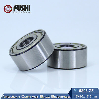 5204-ZZ Premium Shielded Double Row Angular Contact Ball Bearing 20x47x20.6mm