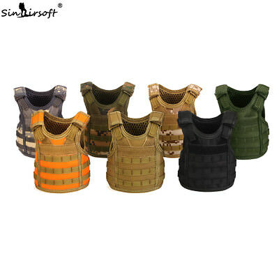 Tactical Beer Bottle Cooler Cover Vest Adjustable Miniature Molle Carrier Deck