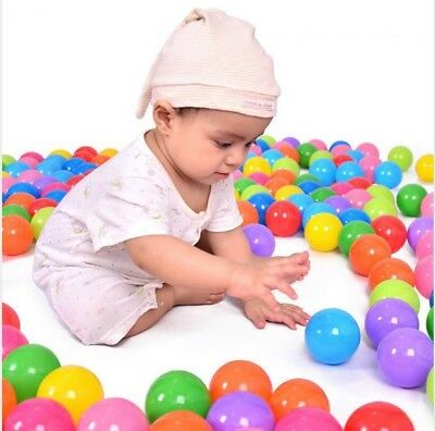 100pcs/lot Eco-Friendly Colorful Soft Water Pool Ocean Wave Ball Baby Funny Toys