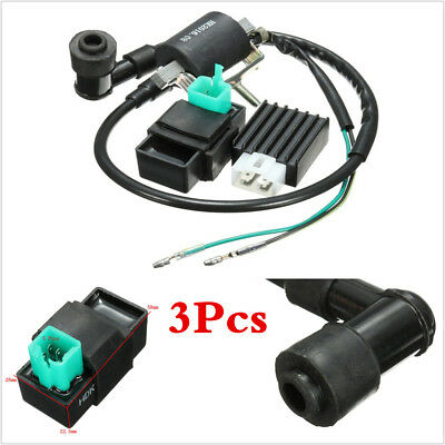 Ignition Coil + CDI Box Rectifier for 110cc 125cc 140cc ATV Dirt Bike & Scooters