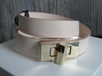 fa14263a670 HUGO BOSS ladies Bespoke Leather strap bracelet with signature cuflink  closure