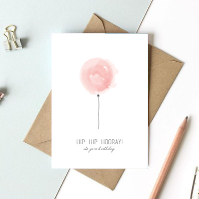 Birthday Greetings Card Handmade Balloon Special Occasion