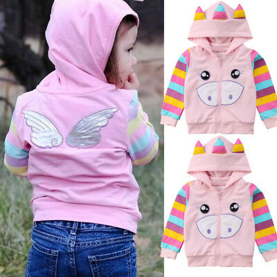 AU Baby Toddler Girls Autumn Trench Coat Kids Wind Jacket Hooded Outwear Clothes