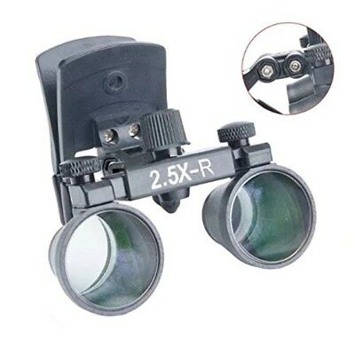 Dental 2.5X Clip-on Magnifier Medical Binocular Loupes DY-109 Black UK STOCK