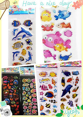 New 3D Puffy Kids Scrapbooking Paper Crafts Party Favors Stickers Lot & gift