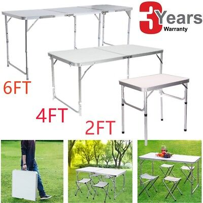 Heavy Duty 6FT Folding Table Trestle Camping Picnic Banquet Party Garden Tables