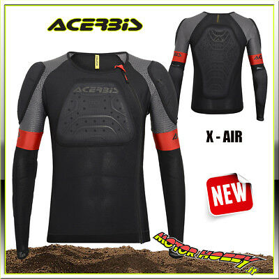 Pettorina Motocross Enduro Acerbis X-Air Body Armour Nero Taglia L/xl