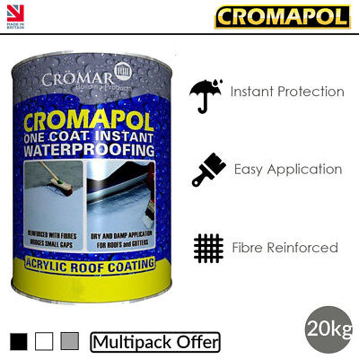 Cromapol | Acrylic Roof Coat | Roof Paint Sealant | Multipack Offer | 20kg Tins