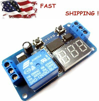 Automation DC 12V LED Display Digital Delay Timer Control Switch Relay Module ^#