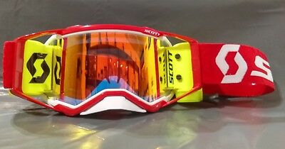 ee37fbf0d33 2019 Scott Prospect MX Goggle Racer Pack White Red - Orange Lens - Yellow  WFS