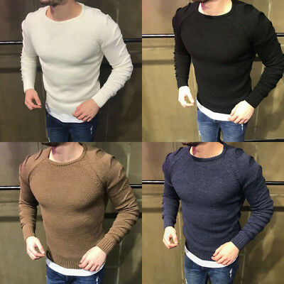 AU Stock Mens Sweater Cashmere Wool Knitwear Jumpers Cardigans Pullover Outwear