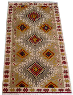 kilim Turc Traditionnel Oriental hand made  154 cm x 91 cm  N° 186