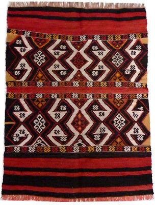 kilim Turc Traditionnel Oriental hand made  113 cm x 83 cm  N° 185