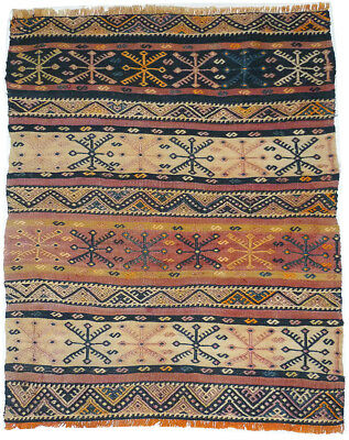 Kilim Turc Traditionnel Oriental hand made  95 cm x 75 cm  N° 165