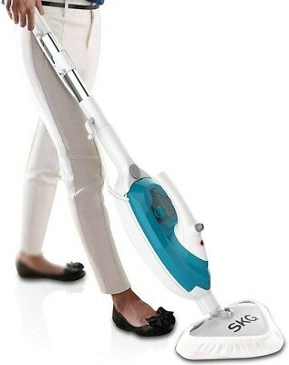 SKG 1500W Powerful Non-Chemical 212F Hot Steam Mop (6-in-1 Accessories)