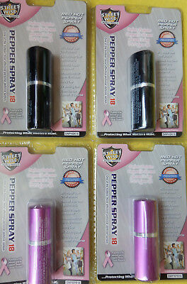4-PACK  $11.98  Streetwise PERFUME PROTECTOR DESIGN Pepper Spray 18  MADE IN USA