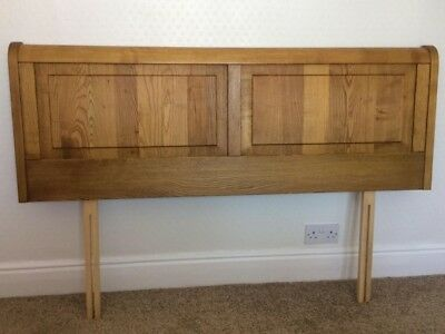 Cotswold Caners Quality Solid Oak Adjustable King/Double Bed Panelled Headboard