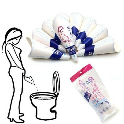 10X Female Portable Disposable Urinal Women Outdoor Camping Stand-Up Pee Device