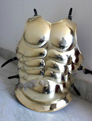 Medieval Roman Armor_Spartan Halloween Costume Solid 18G Brass Free Shipng Wedn5